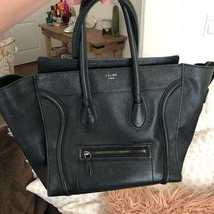 Black Celine Mini Luggage Handbag
